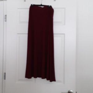 Skirt- mid knee length Burgundy, Size L